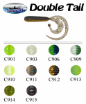 Силикон Fishing Roi Double Tail 50мм цвет-C910, Силикон Fishing Roi Double Tail 50мм цвет-C909, Силикон Fishing Roi Double Tail 50мм цвет-C903